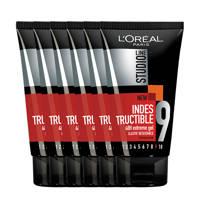 L'Oréal Paris Studio Line Indestructible 48H Extreme haargel - 6x 150ml multiverpakking
