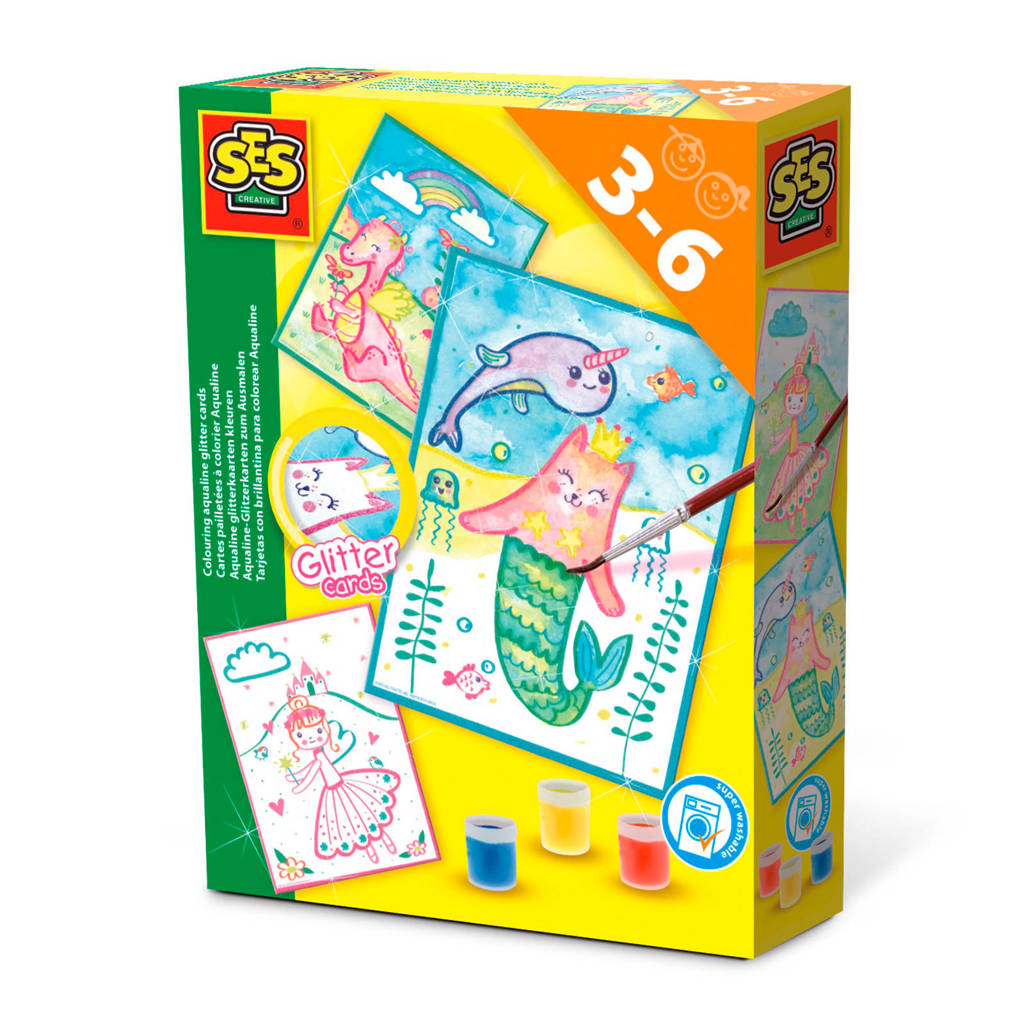 SES Aqualine glitterkaarten