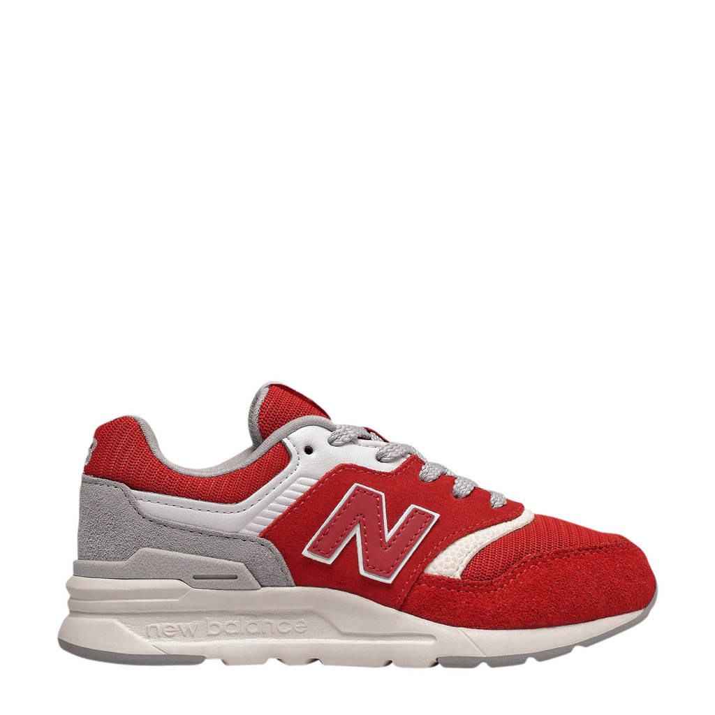 New Balance  997 sneakers rood/wit/grijs, Rood/Wit/Grijs