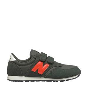 420 sneakers donkergroen/oranje