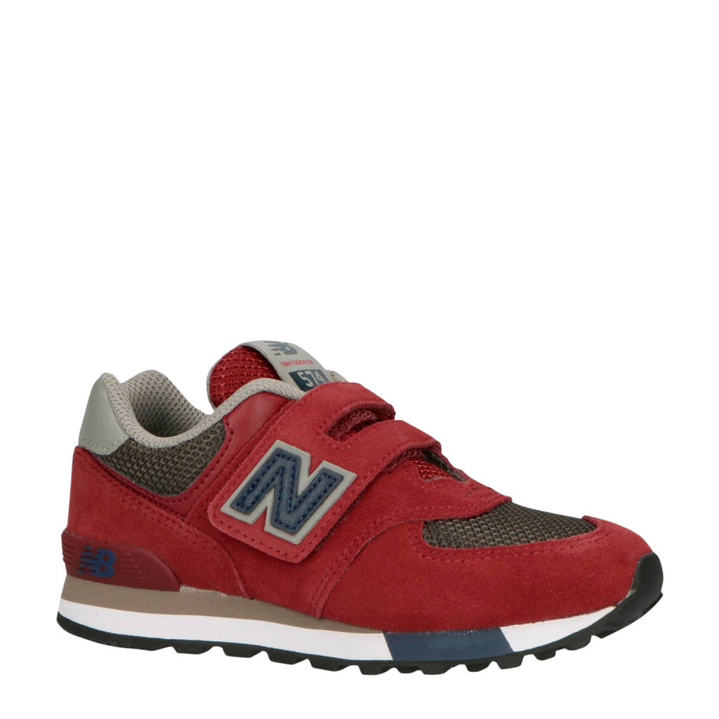New Balance YV574 sneakers rood, Rood/donkerblauw