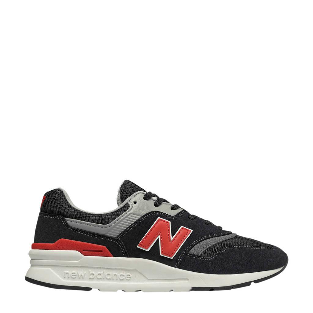 New Balance 997  sneakers zwart/rood, Zwart/rood/grijs