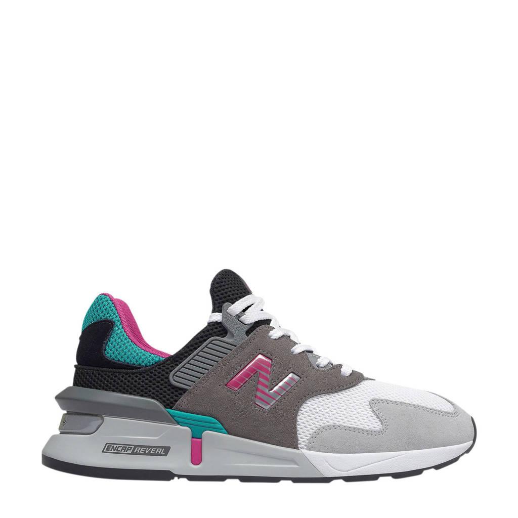 New Balance  MS997 sneakers grijs/zwart/groen/roze, Grijs/zwart/groen/roze