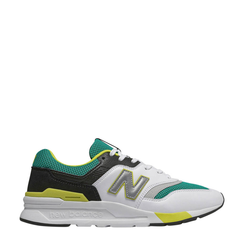 New Balance 997  sneakers wit/turquoise, Wit/Zwart/Turquoise