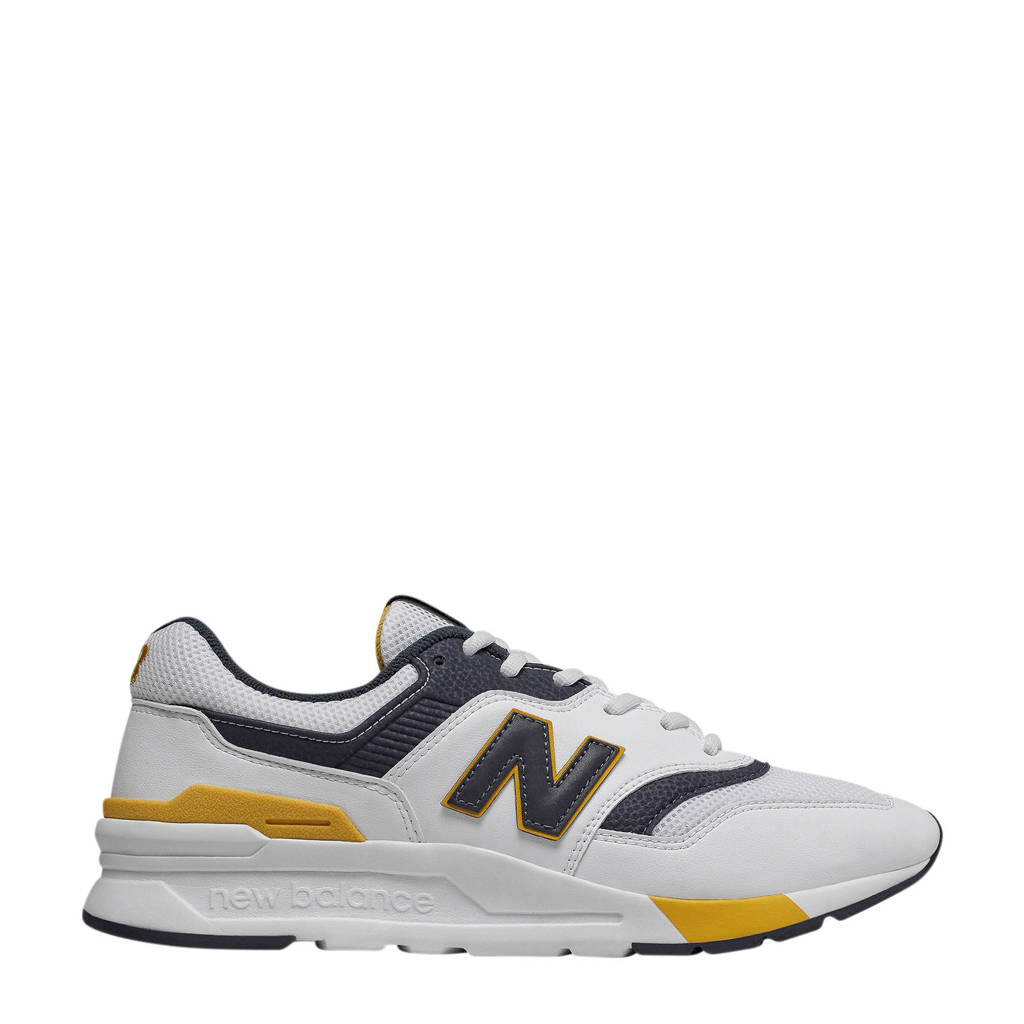 New Balance 997  sneakers wit/marine, Wit/marine/geel