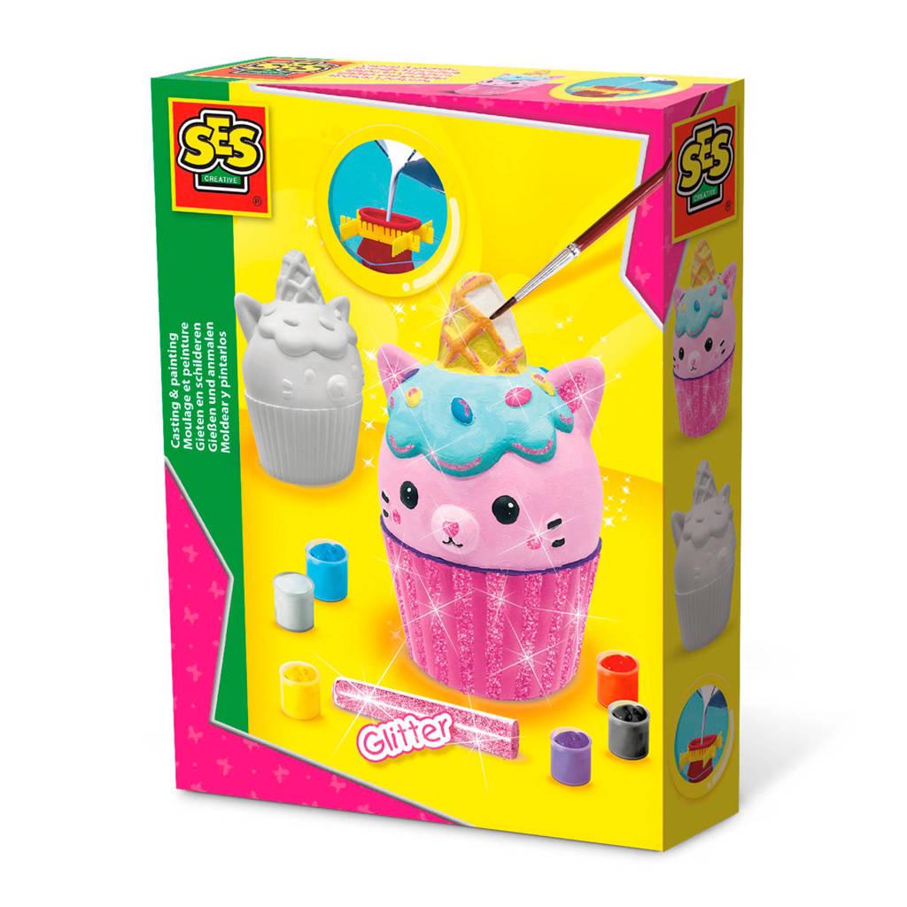 SES Gieten en schilderen - Unikitty cupcake