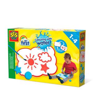 Tekenbord kleuren met water