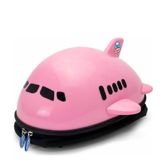 Airplane rugzak roze 34x33x19 cm (91102)