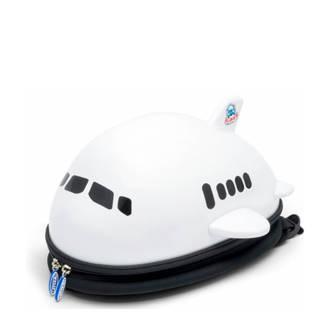 Airplane wit rugzak 34x33x19 cm (91102)