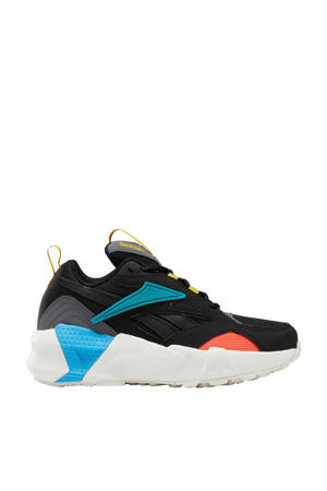 Aztrek 96 sneakers zwart/blauw/oranje