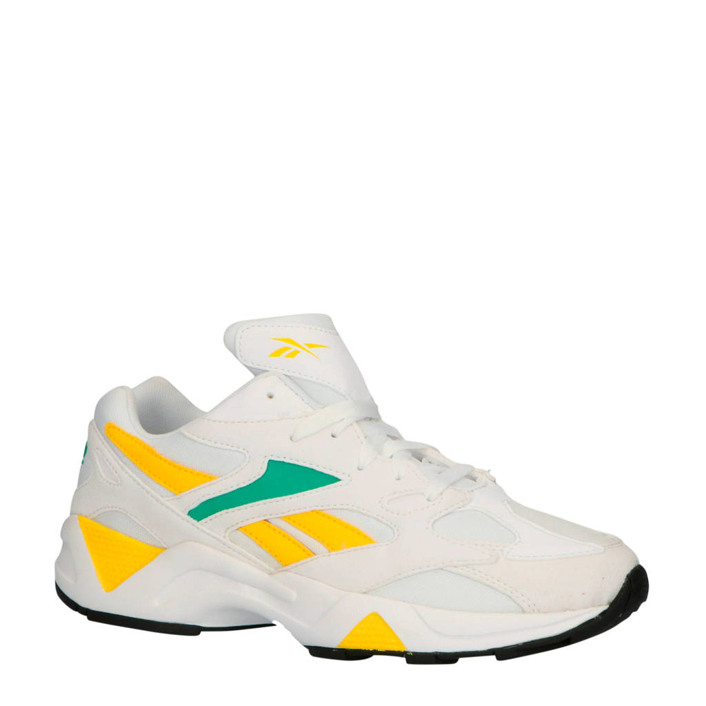 Reebok  Aztrek 96 sneakers wit/geel/groen, Wit/geel/groen