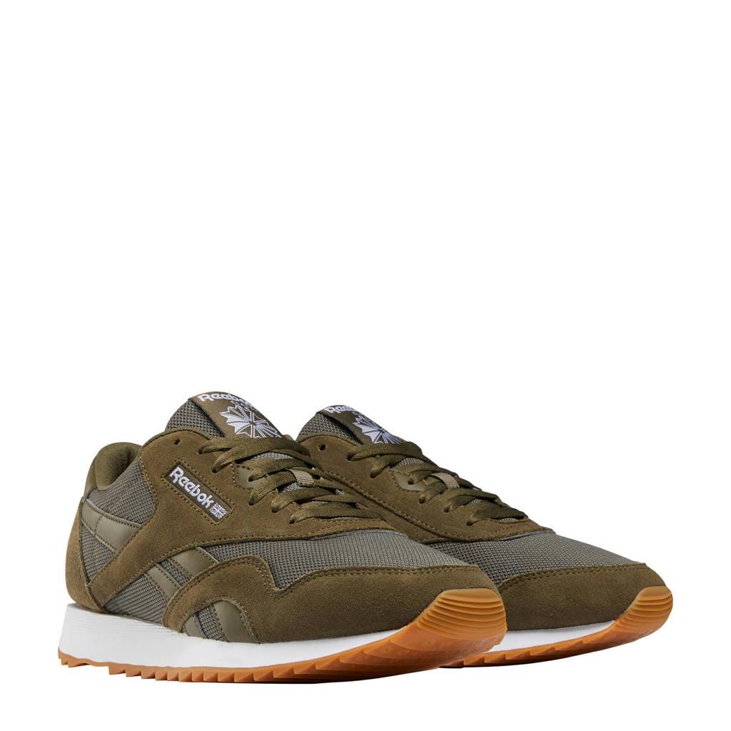 Reebok Classics Nylon Ripple  sneakers donkergroen/grijs, Donkergroen/grijs
