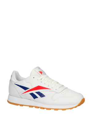 CL Leather MU sneakers wit/rood/blauw