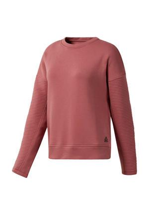 fleece sportsweater roze