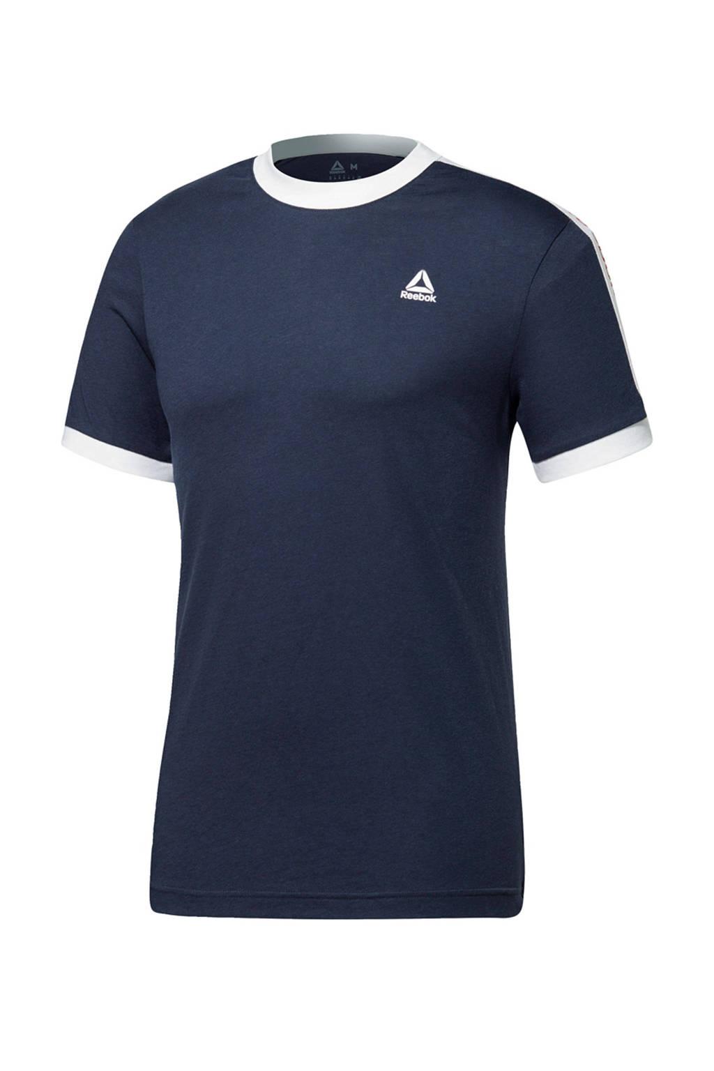 Reebok   sport T-shirt donkerblauw, Donkerblauw
