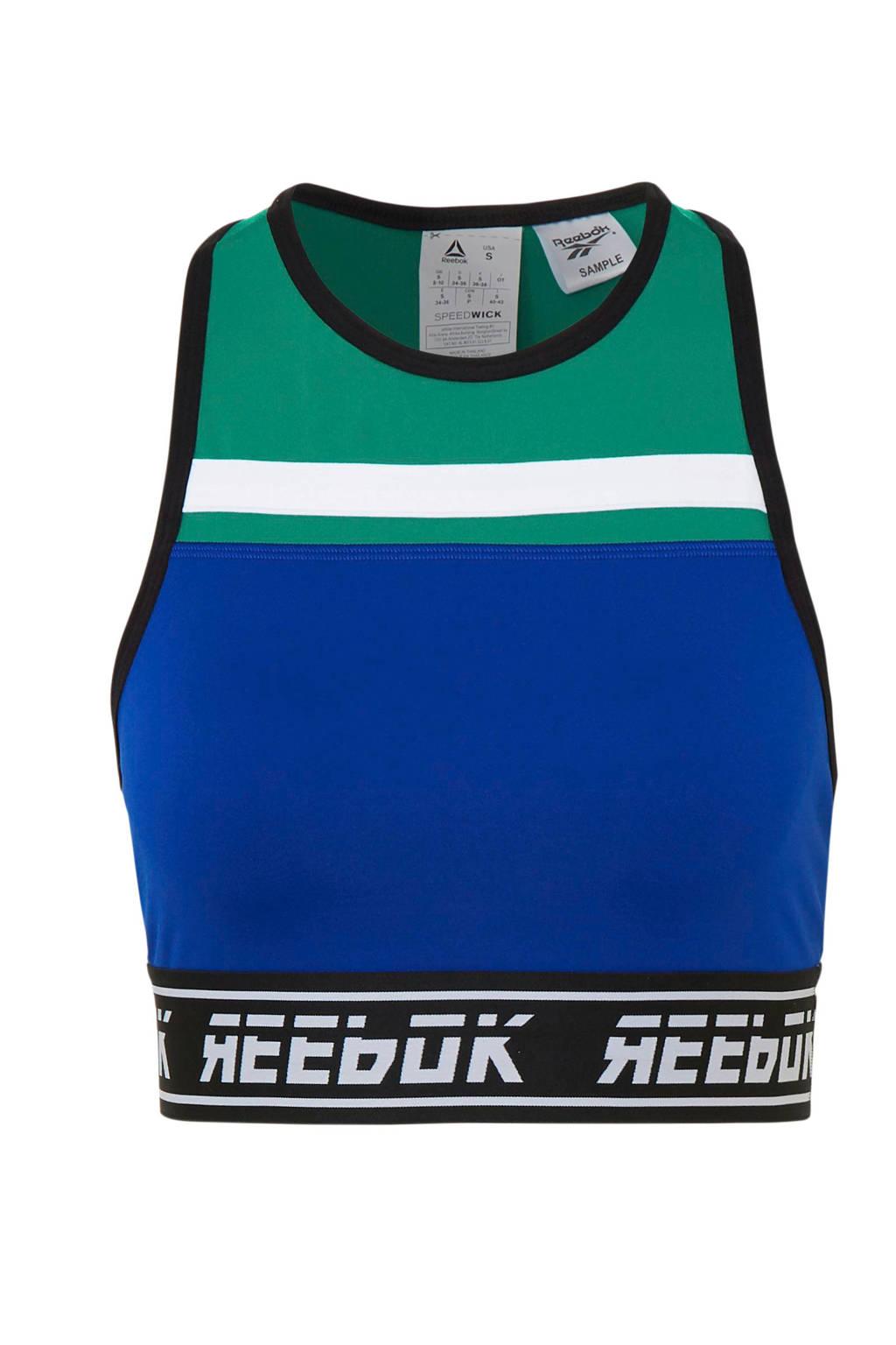 Reebok sporttop, Kobaltblauw/groen