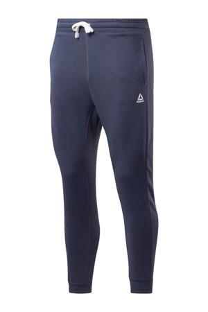 regular fit joggingbroek met logo donkerblauw/wit