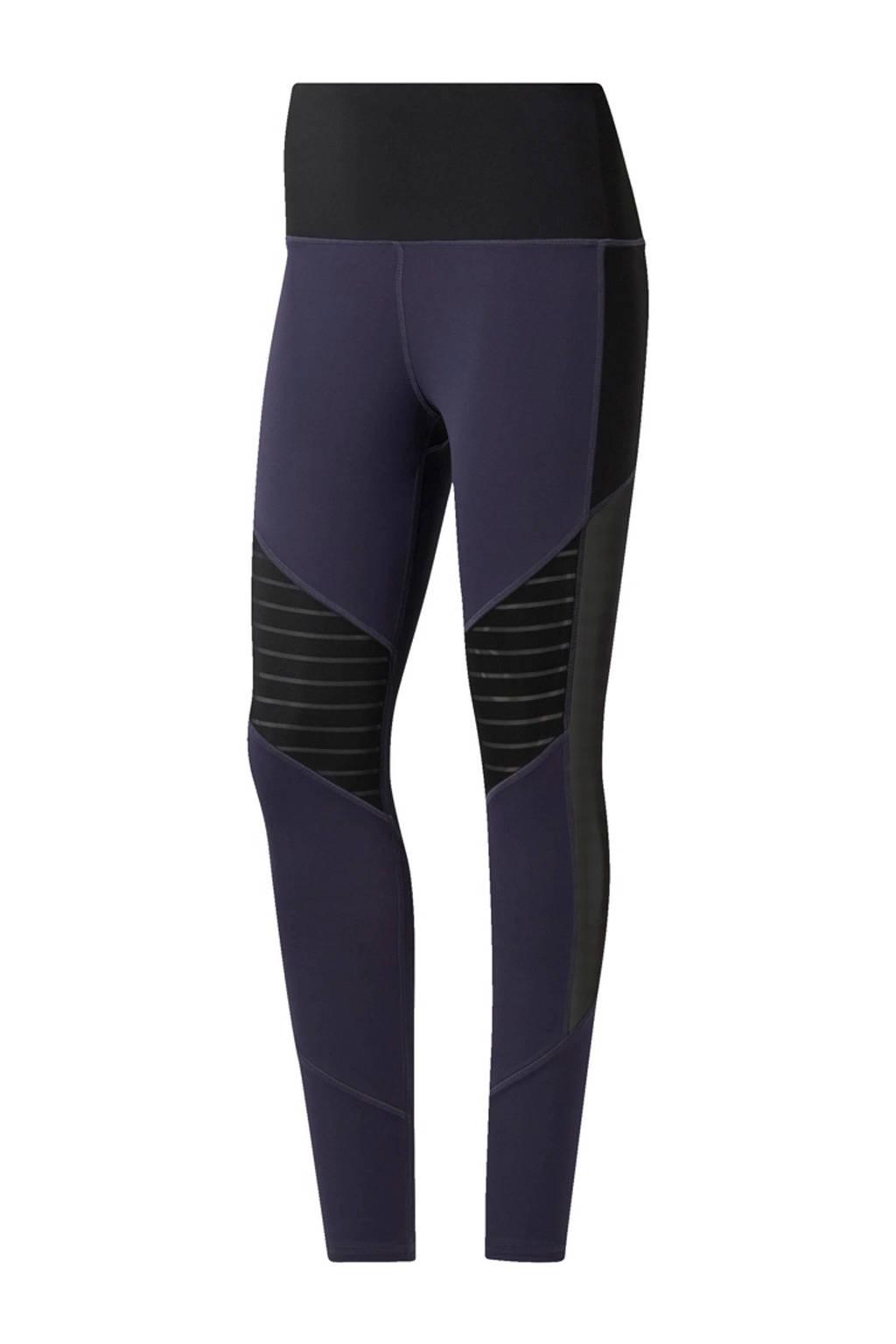 Reebok sportbroek donkerblauw, Donkerblauw/zwart