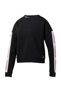 Reebok Training sportsweater zwart, Zwart/wit/rood