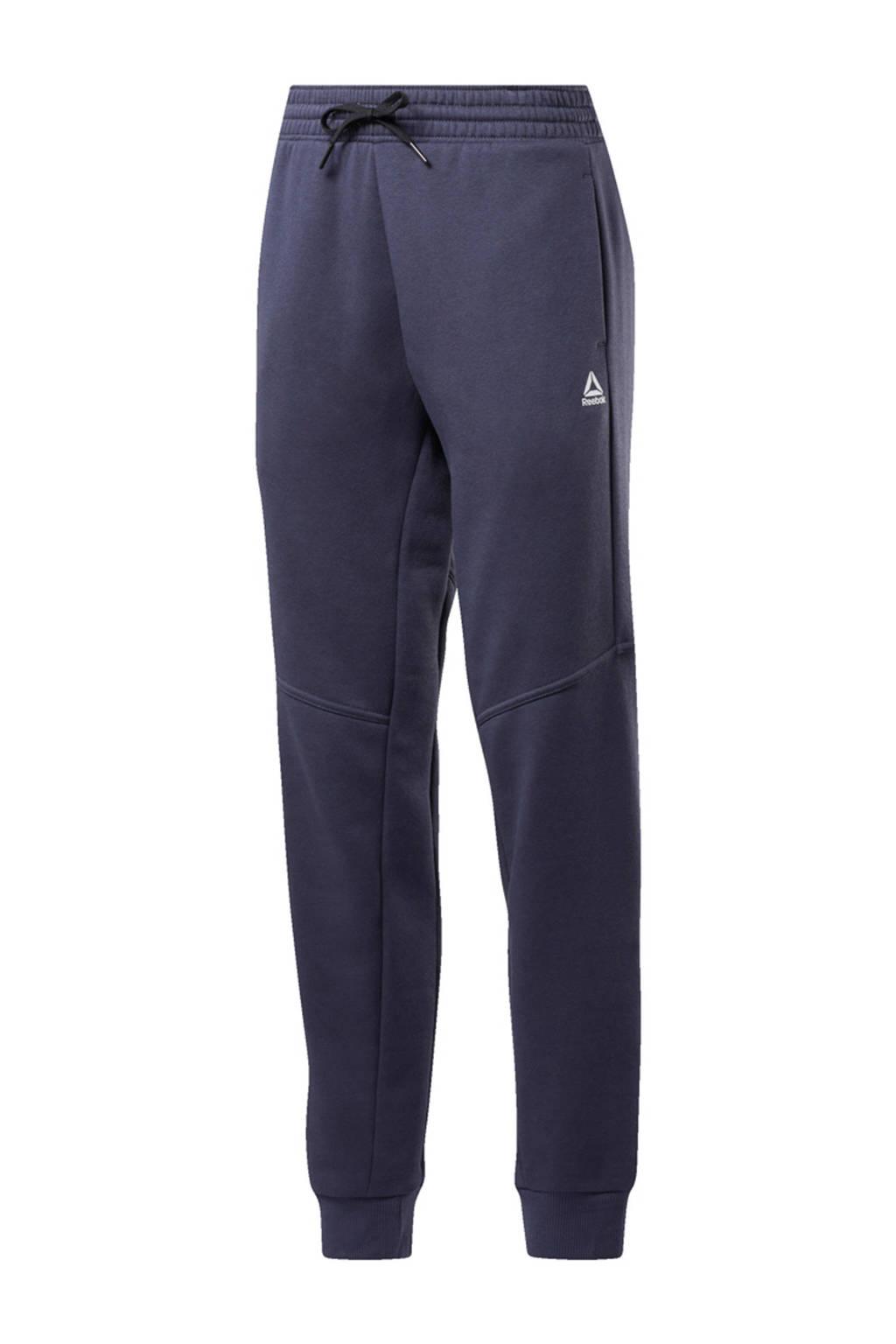 Reebok regular fit joggingbroek met logo donkerblauw/rood, Donkerblauw/rood