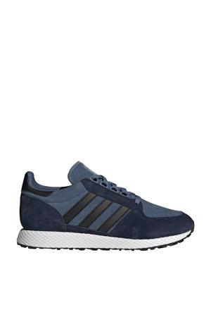 Forest Grove  suède sneakers grijsblauw