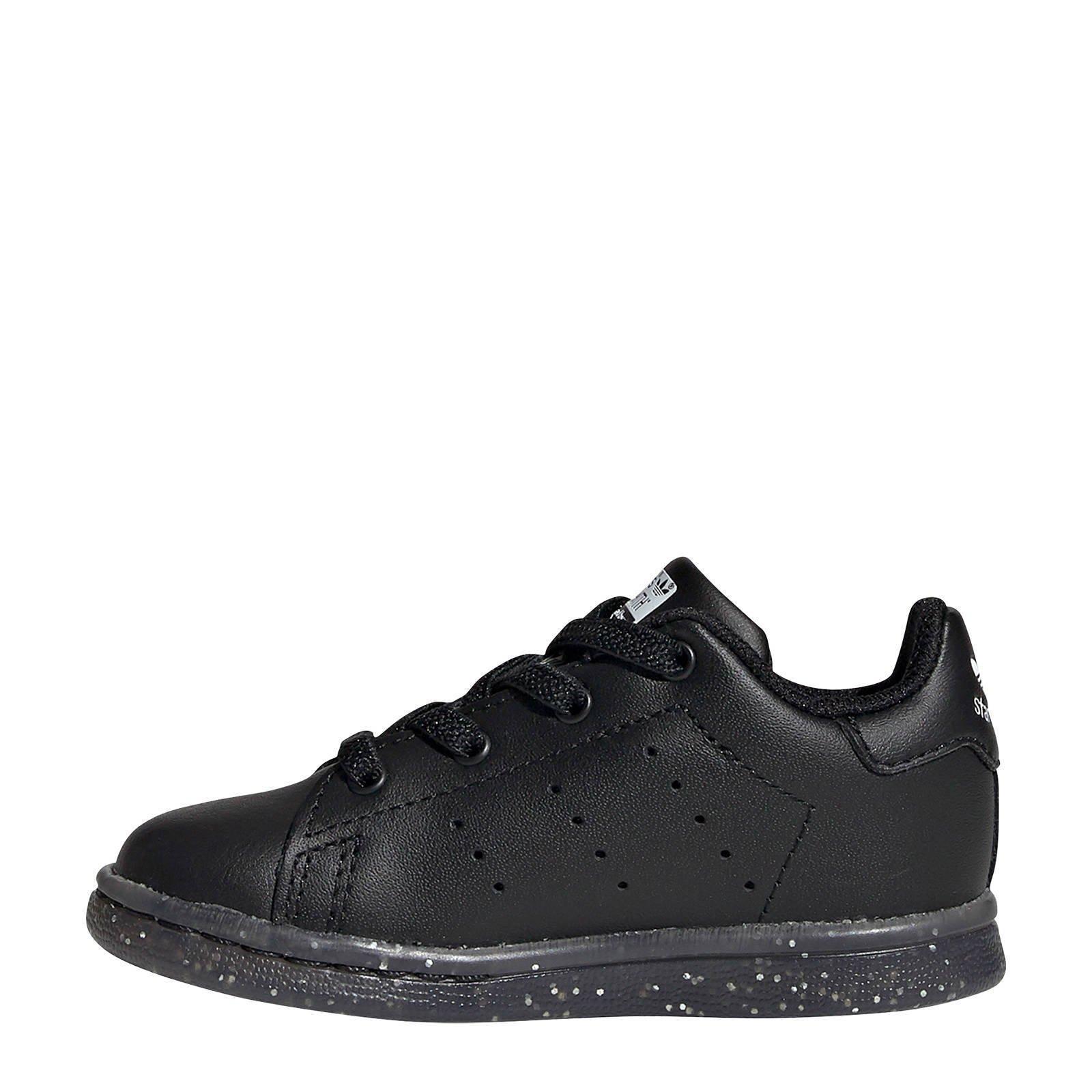 Stan Smith EL I leren sneakers zwart