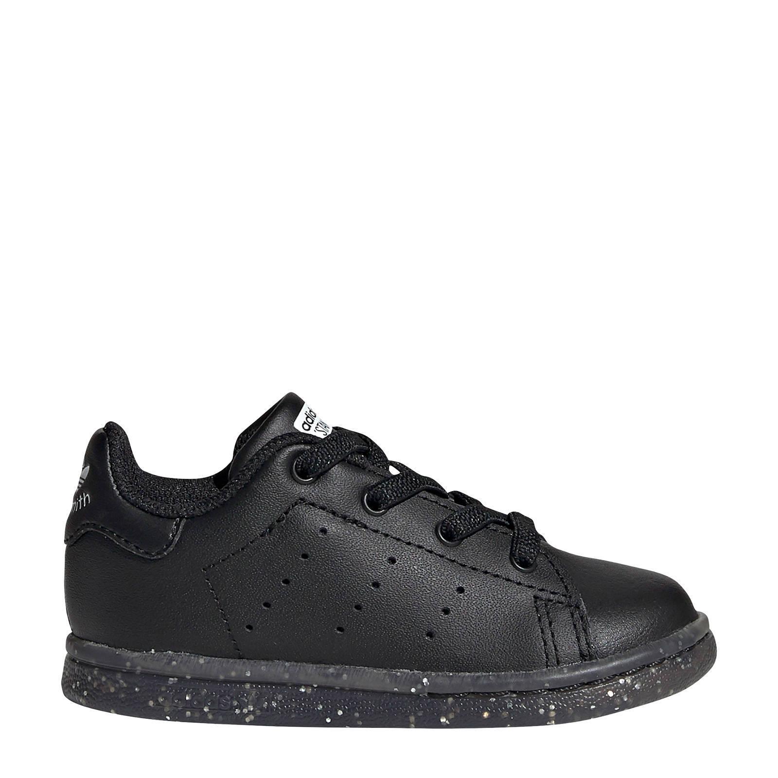 adidas originals Stan Smith EL I leren sneakers zwart | wehkamp
