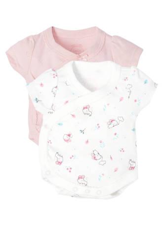 Baby Club newborn baby overslagromper - set van 2