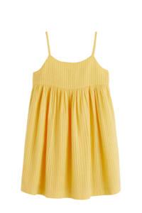 Mango Kids gestreepte jurk geel, Geel