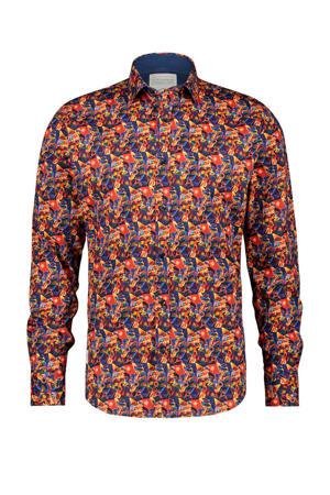 regular fit overhemd met all over print koraalrood