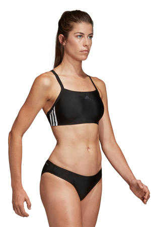 sportbikini 3-stripes zwart