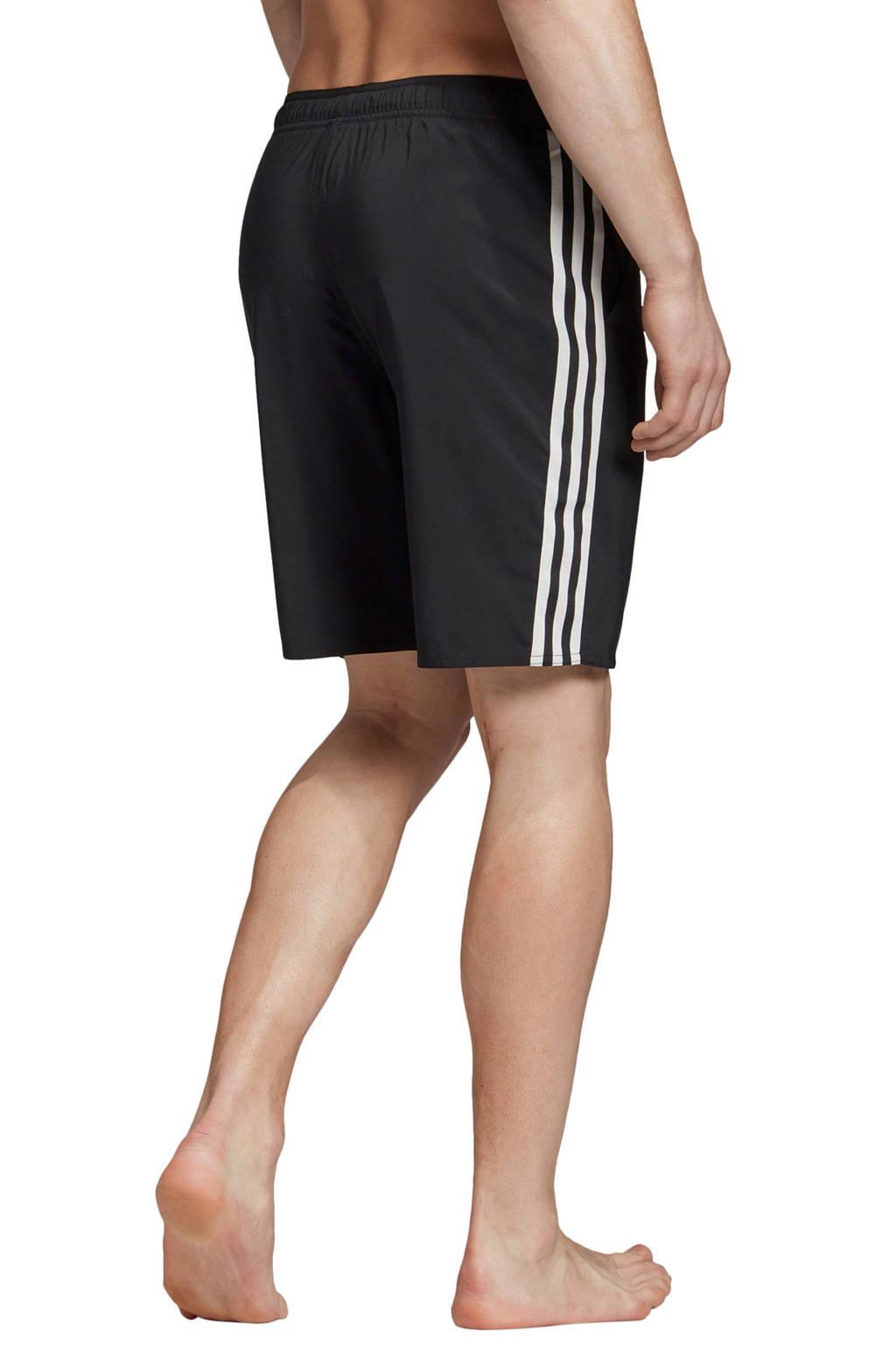 adidas performance zwemshort 3-stripes zwart, Zwart/wit