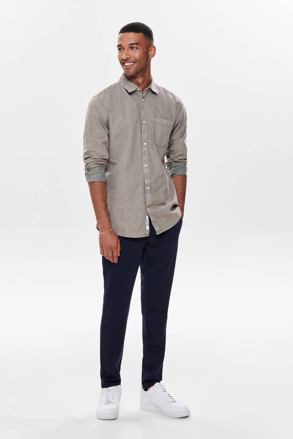 ONLY & SONS regular fit overhemd grijs, Grijs