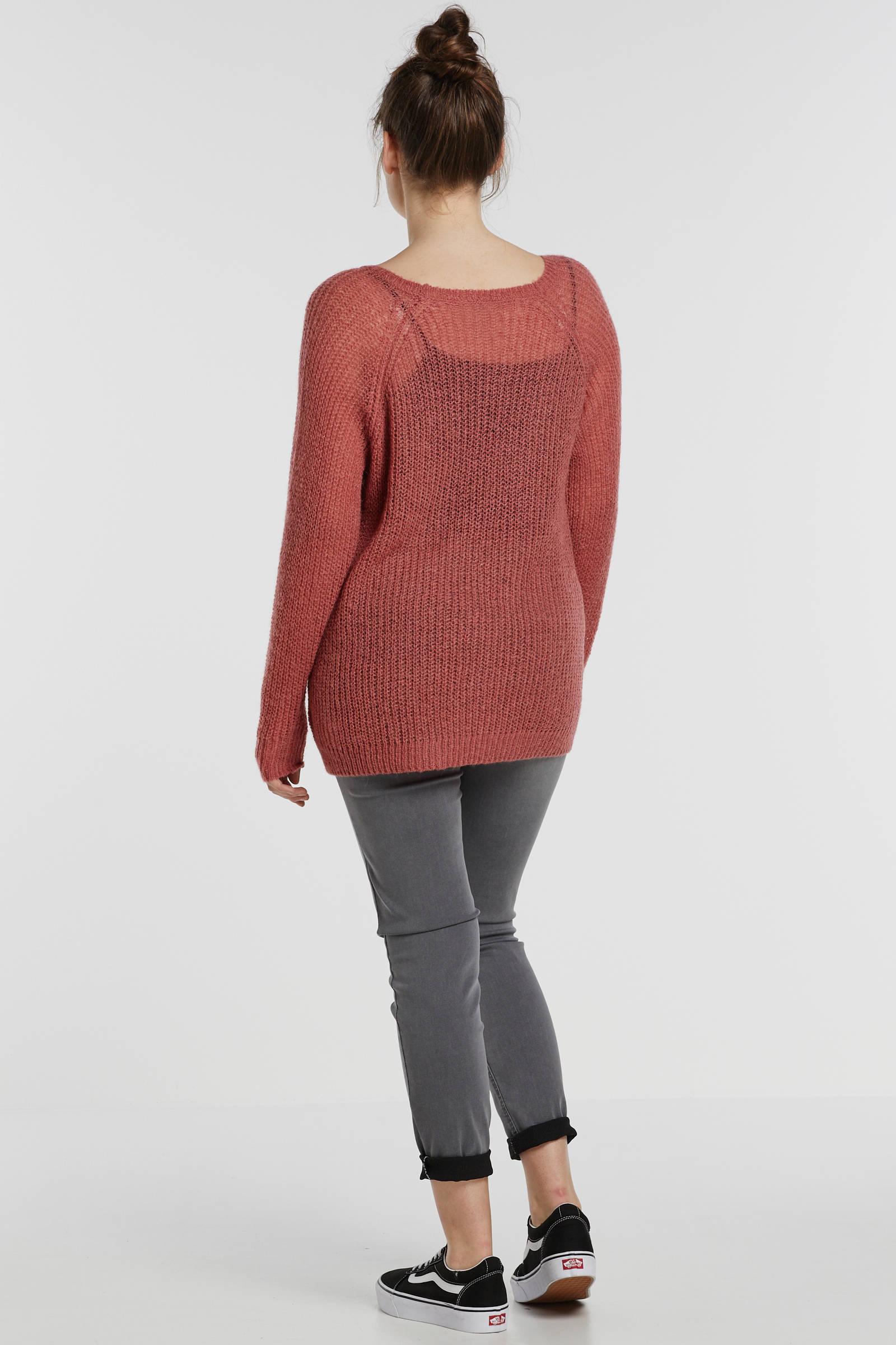 Zizzi gebreide trui rood