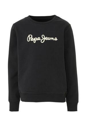 sweater Ronit met logo zwart