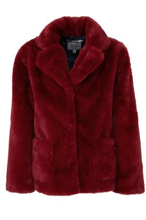 imitatiebont winterjas Columba warm rood