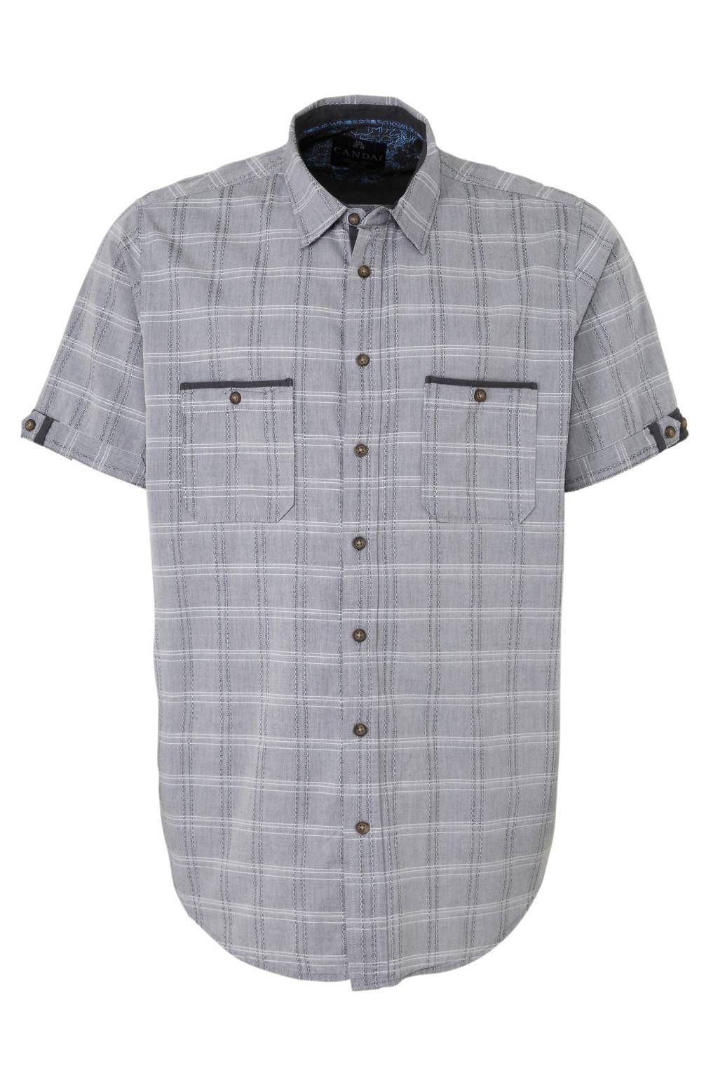 C&A XL Canda overhemd met all over print grijs, Grijs
