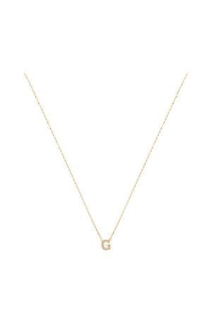 14 karaat gouden ketting letter G - IB1001187-G