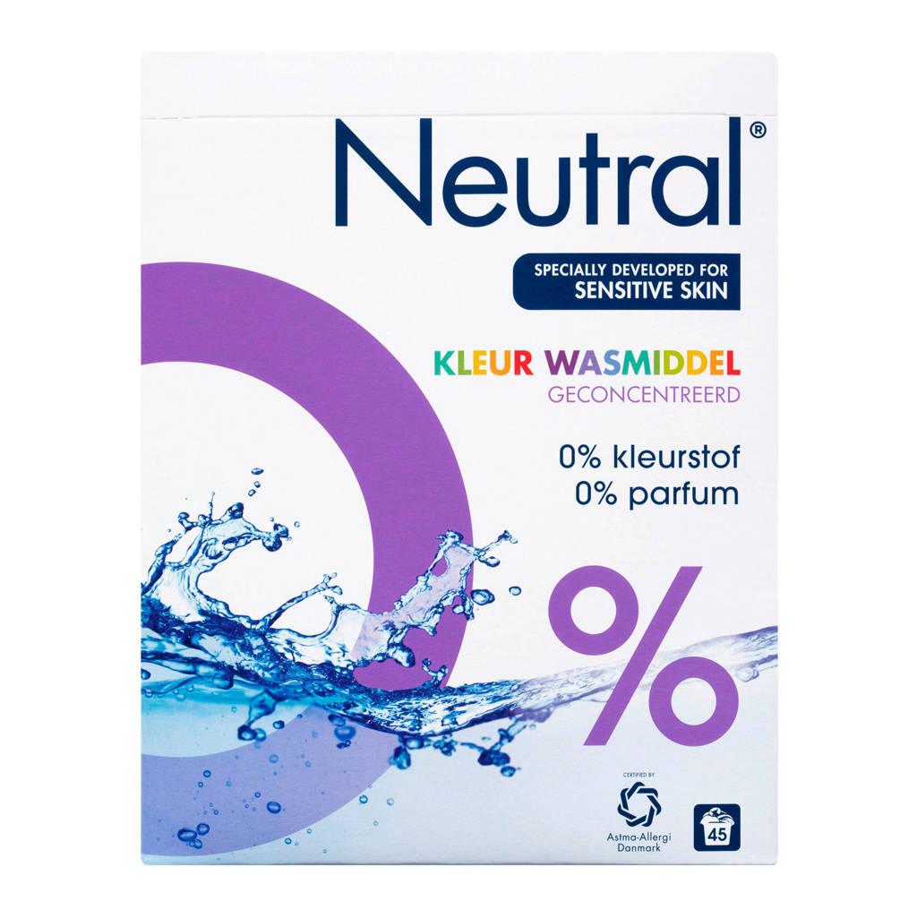 Neutral wasmiddel kleur - 45 wasbeurten - poeder - parfumvrij