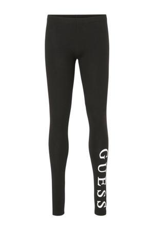 legging met printopdruk zwart/wit