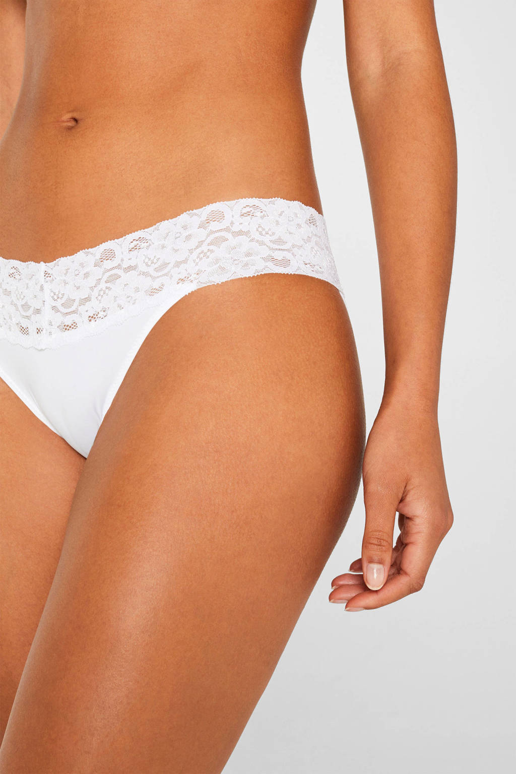 ESPRIT slip Daily Lace wit (set van 2), Wit