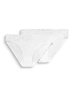 slip Daily Lace (set van 2) wit