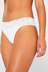 ESPRIT Women Bodywear string Daily Lace wit (set van 2), Wit