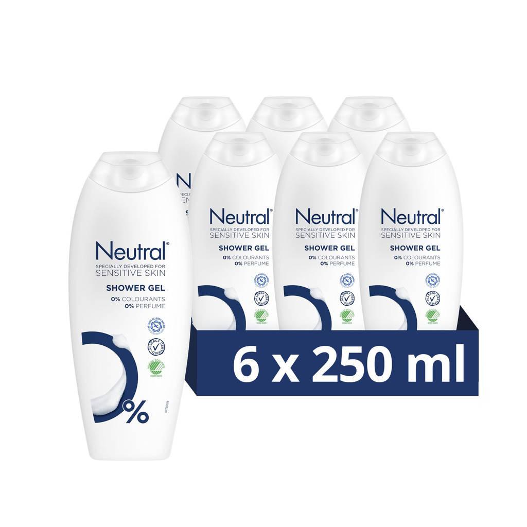 Neutral douchegel - 6x250 ml - parfumvrij