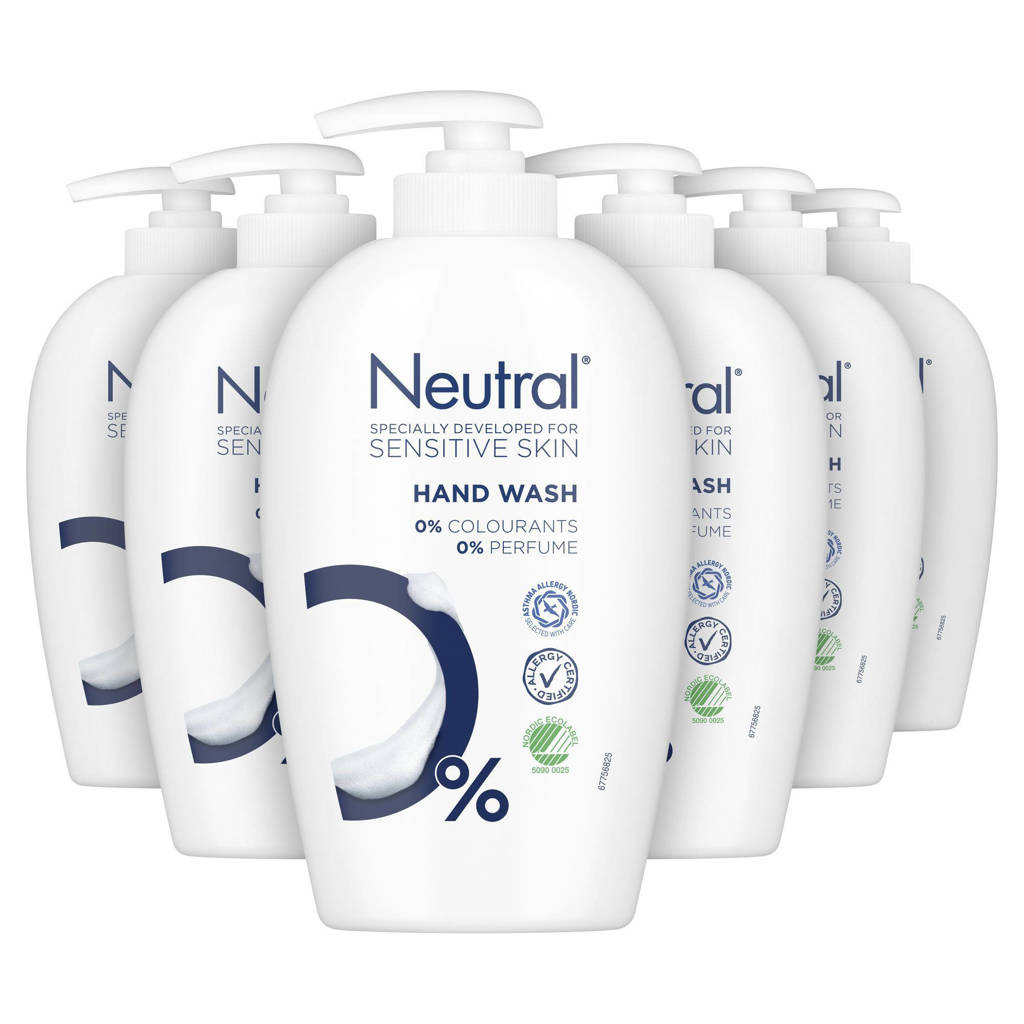 Neutral handzeep - 6x250 ml - parfumvrij