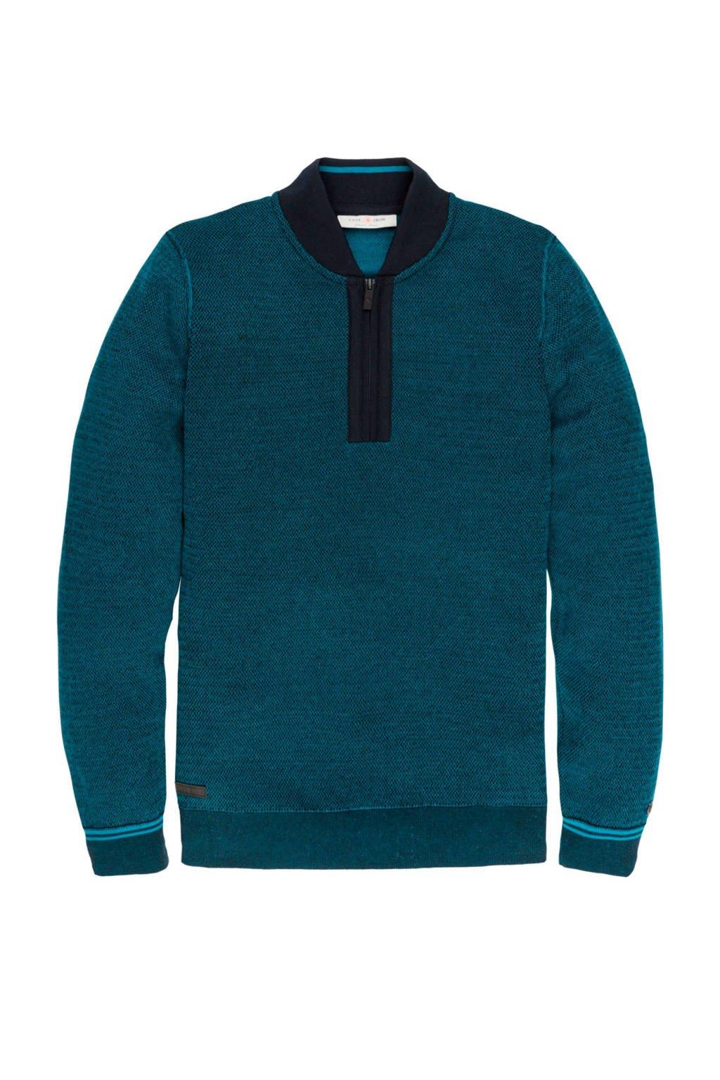 Cast Iron trui blauw, Blauw
