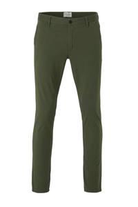 Cast Iron slim fit chino groen, Groen