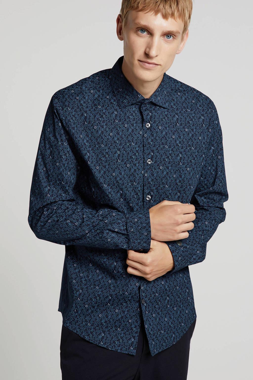 Cast Iron overhemd donkerblauw, Donkerblauw