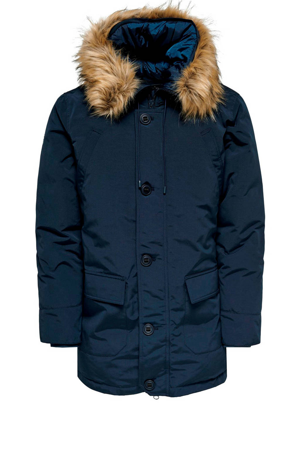 ONLY & SONS parka donkerblauw, Donkerblauw