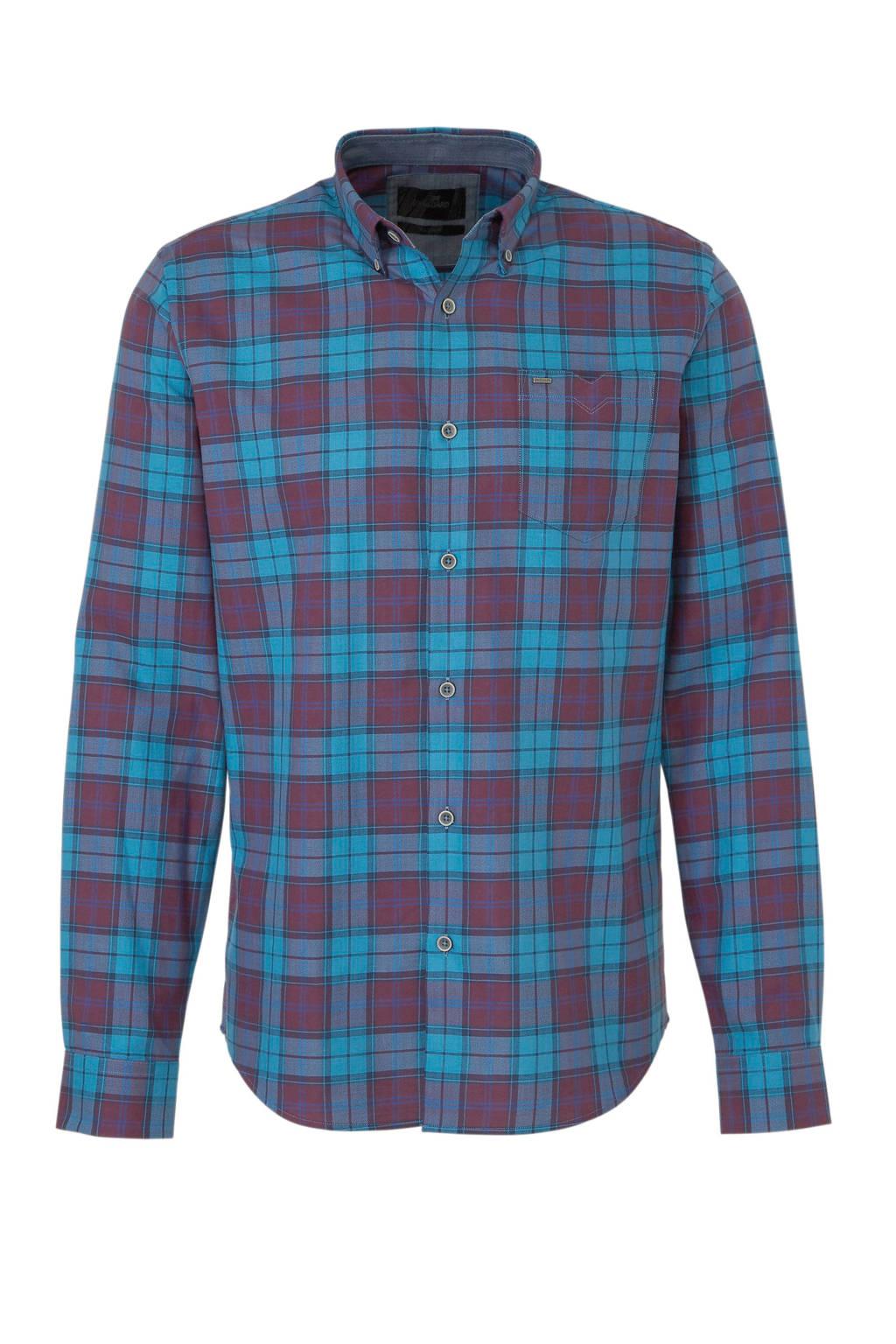Vanguard overhemd met ruitprint, Blauw